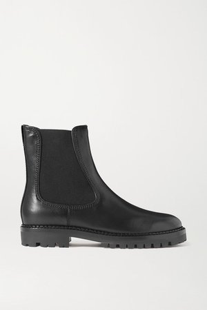 Carmine Leather Chelsea Boots - Black