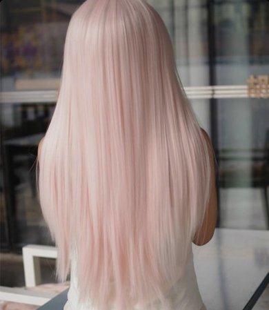 snow pink hair