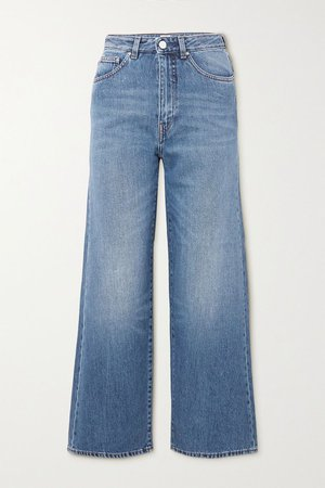 Mid denim High-rise wide-leg jeans | Totême | NET-A-PORTER