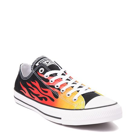 Converse Chuck Taylor All Star Lo Flames Sneaker - Black | Journeys