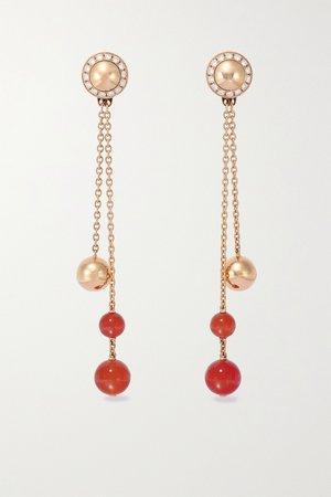 Rose gold Possession 18-karat rose gold, carnelian and diamond earrings | Piaget | NET-A-PORTER