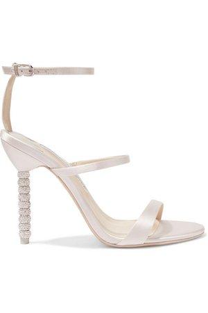 Sophia Webster | Rosalind crystal-embellished satin sandals | NET-A-PORTER.COM