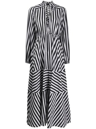 Pinko Striped Maxi Shirt Dress - Farfetch