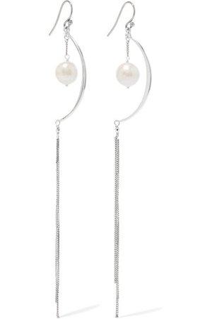 Chan Luu | Silver pearl earrings | NET-A-PORTER.COM