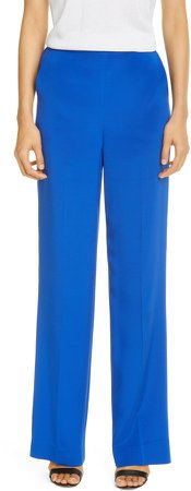 Stretch Silk Crepe de Chine Pants