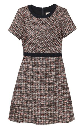Gal Meets Glam Collection Marley Bouclé Fit & Flare Mini Dress | Nordstrom