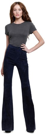 Suede Bell Pant
