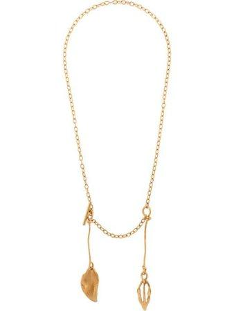 Marni leafs metal necklace gold COMV0214A0M2000 - Farfetch