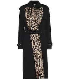 Leopard-Print Gabardine Trench Coat - Burberry   Mytheresa