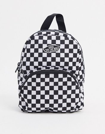 Vans Got This mini check backpack in black | ASOS
