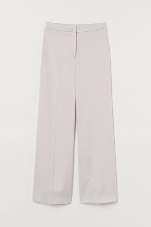 Wide-leg Pants - Brown