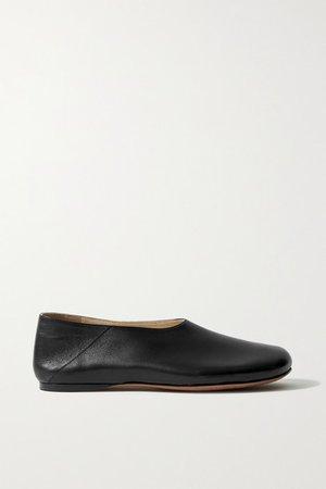 Rondo Leather Ballet Flats - Black