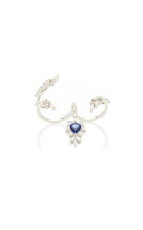 Yeprem 18K White Gold Reign Supreme Ring Size: 8
