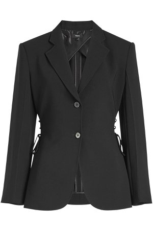 Crepe Jacket with Lace-Up Detail Gr. US 4