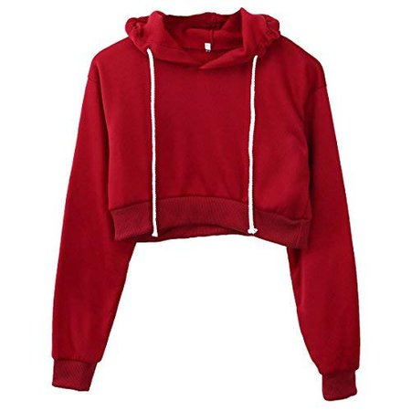 red cropped hoodie - Google Search