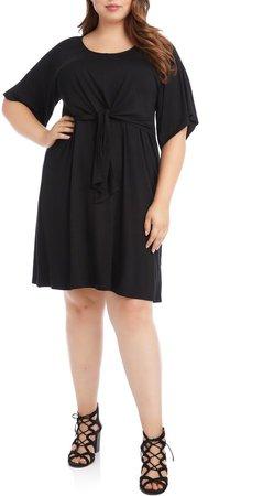 Tie Front A-Line Dress