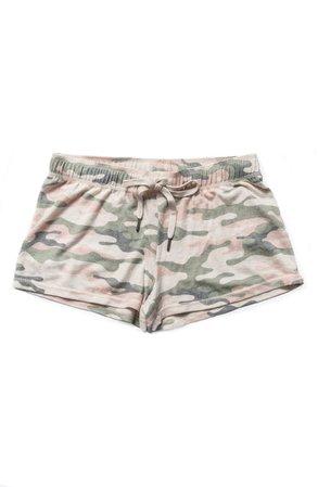 PJ Salvage Peachy Dreams Camo Pajama Shorts   Nordstrom