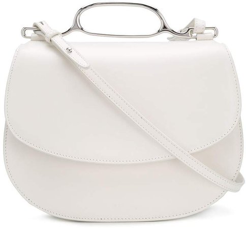 Curved Leather Crossbody Bag