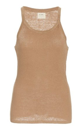 Iman Ribbed-Knit Linen Tank Top By St. Agni | Moda Operandi