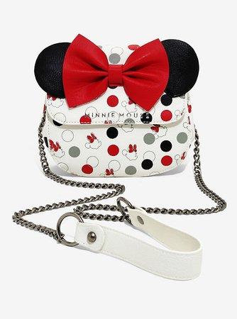 Loungefly Disney Minnie Mouse Bow & Polka Dot Crossbody Bag