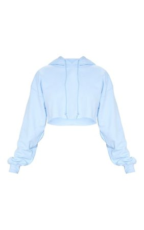 Baby Blue Ultimate Oversized Crop Hoodie | PrettyLittleThing