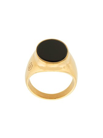Nialaya Jewelry Onyx Signature Ring MRING076 Gold | Farfetch
