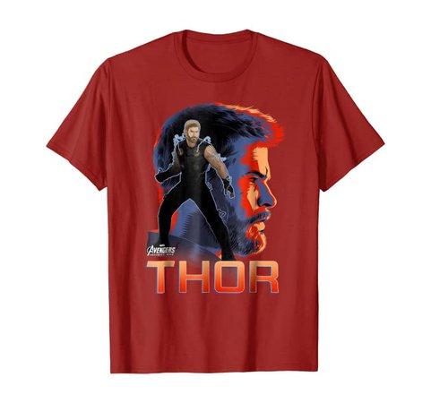Amazon.com: Marvel Infinity War Thor Big Head Profile Graphic T-Shirt: Clothing