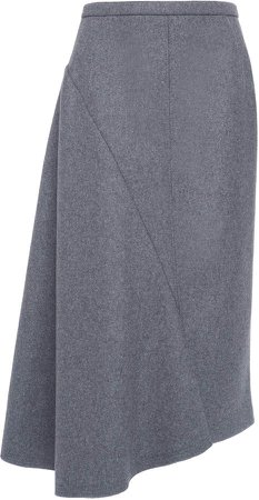 N21 Wool-Blend Asymmetrical Hem Skirt