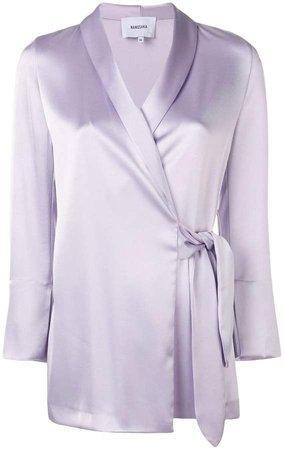 Nanushka wrap style blouse