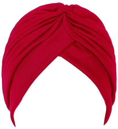 Choies Women's Pleated Head Wrap Knit Bonnet Turban Red at Amazon Women's Clothing store