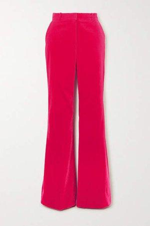 David Cotton-velvet Wide-leg Pants - Pink