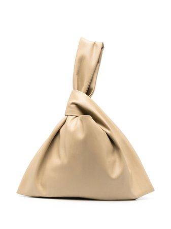 Nanushka Faux Leather Ruched Tote Bag - Farfetch
