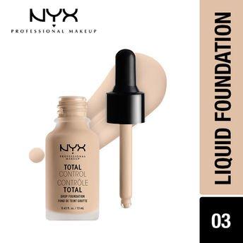 NYX Professional Makeup Total Control Drop Foundation - Porcelain at Nykaa.com