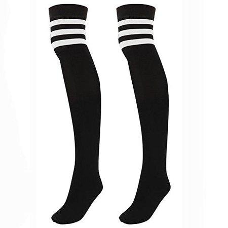 Knee high black socks