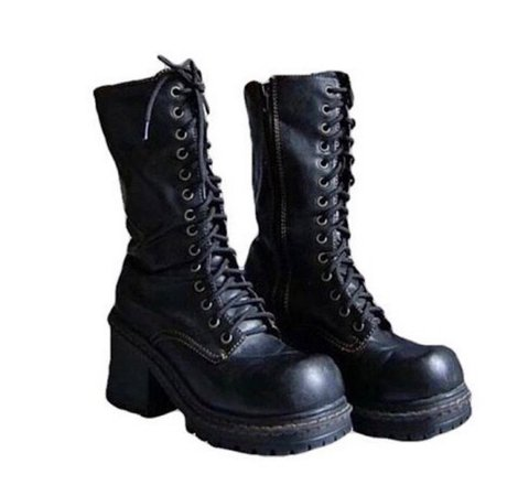 Dolls Kill black combat boots