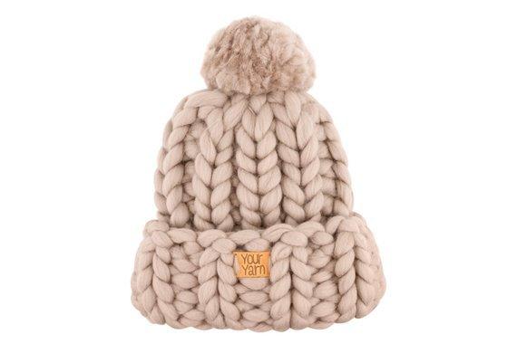 Women's wool knit hat Helsinki Hat Super chunky hat with | Etsy