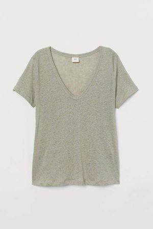 Linen Jersey Top - Green