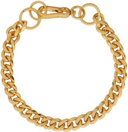 Martine Ali: SSENSE Exclusive Gold Cuban Link Choker | SSENSE