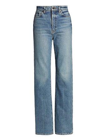 Khaite Danielle Straight-Leg Jeans | SaksFifthAvenue