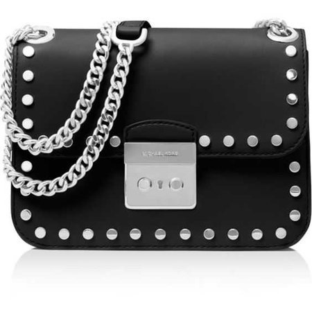 Michael Kors Sloan Editor Chain Stud Medium Leather Shoulder Bag