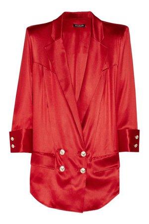 Balmain Red Blazer