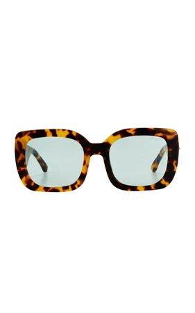 Poppy Lissiman Helios Square-Frame Sunglasses