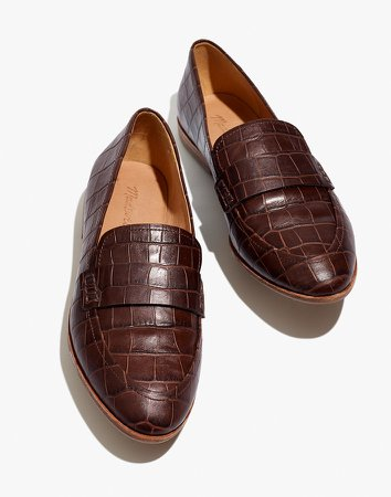The Alex Loafer in Croc Embossed Leather