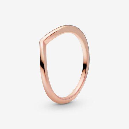 Polished Wishbone Ring | Rose Gold | Pandora Canada