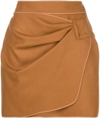 wrap front mini dress