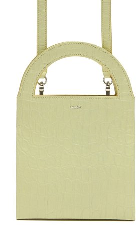 Europa Croc Embossed Leather Tote