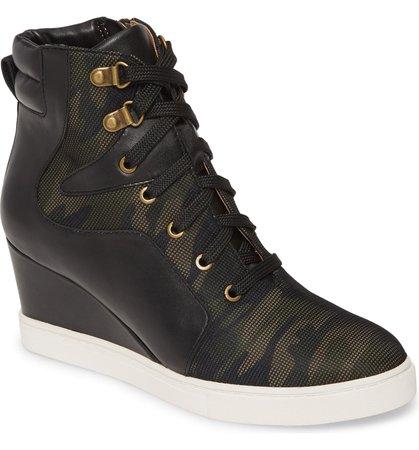 Linea Paolo Fleur Wedge Sneaker (Women) | Nordstrom