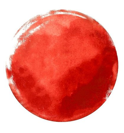 Bright Red Watercolor Circle