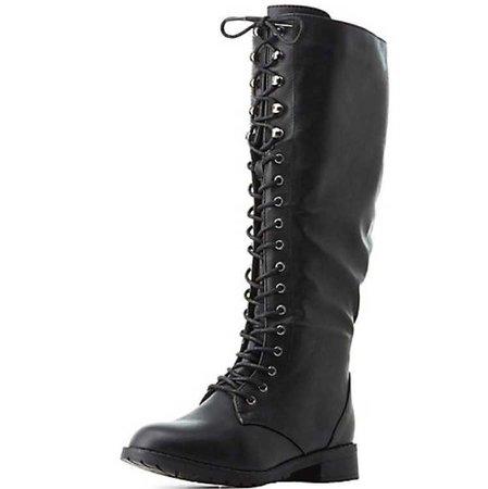 knee high combat boot