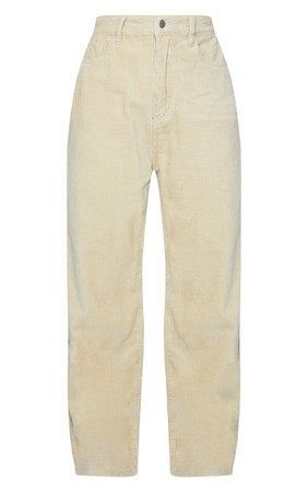 Sand Cord Baggy Boyfriend Jeans | Denim | PrettyLittleThing USA